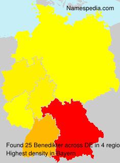 Familiennamen Benedikter - Germany
