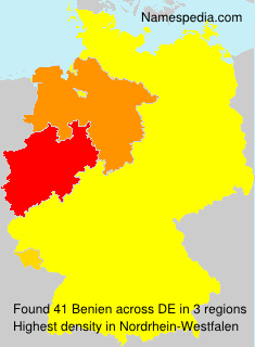 Surname Benien in Germany