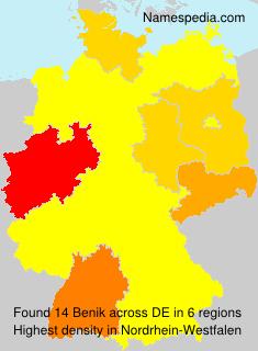 Familiennamen Benik - Germany