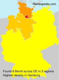 Surname Benitt in Germany