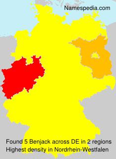 Surname Benjack in Germany