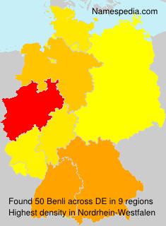 Surname Benli in Germany