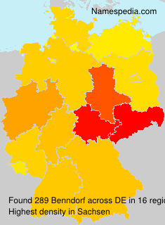 Surname Benndorf in Germany