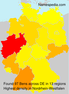 Surname Bens in Germany