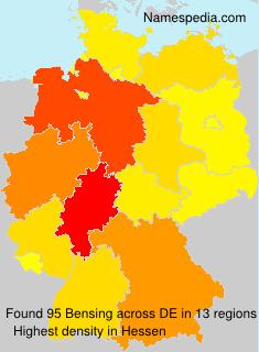 Familiennamen Bensing - Germany