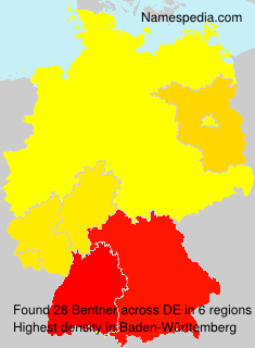 Surname Bentner in Germany