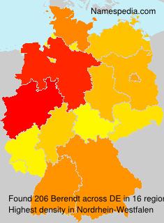 Surname Berendt in Germany