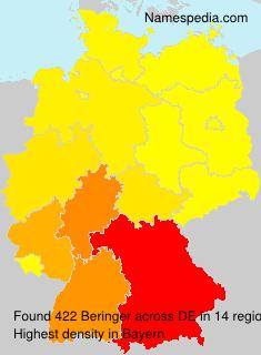 Surname Beringer in Germany
