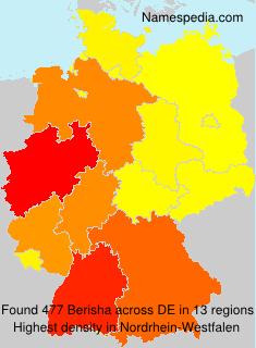Familiennamen Berisha - Germany