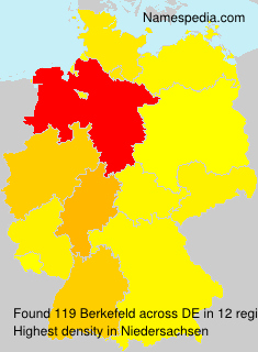 Familiennamen Berkefeld - Germany