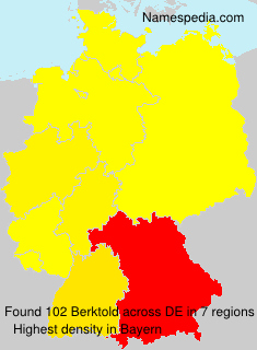 Surname Berktold in Germany