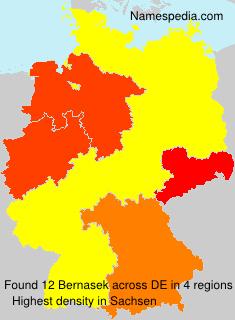 Familiennamen Bernasek - Germany
