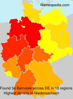 Familiennamen Bernatek - Germany