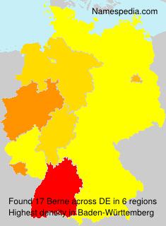 Surname Berne in Germany