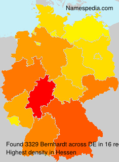 Surname Bernhardt in Germany