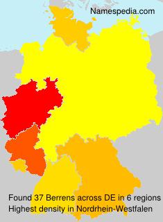 Familiennamen Berrens - Germany
