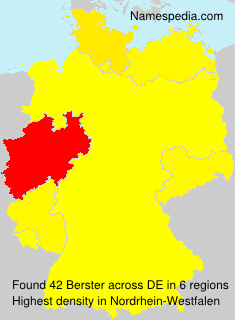 Surname Berster in Germany
