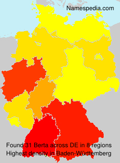 Surname Berta in Germany