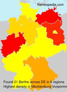 Surname Berthe in Germany