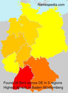 Familiennamen Berti - Germany