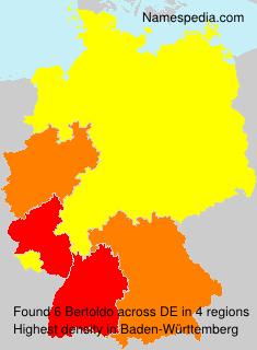 Surname Bertoldo in Germany