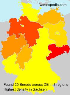 Surname Berude in Germany