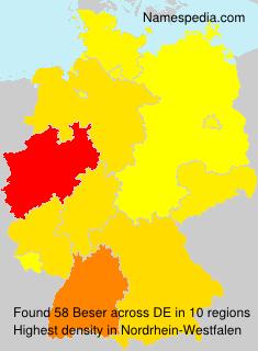 Familiennamen Beser - Germany