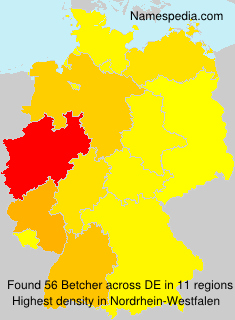 Surname Betcher in Germany