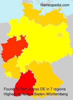 Familiennamen Bett - Germany