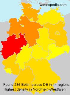Familiennamen Bettin - Germany