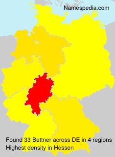 Familiennamen Bettner - Germany