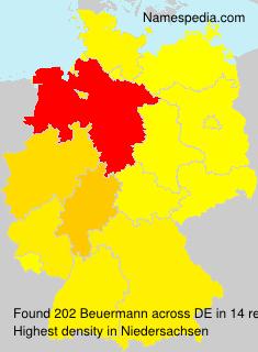 Surname Beuermann in Germany