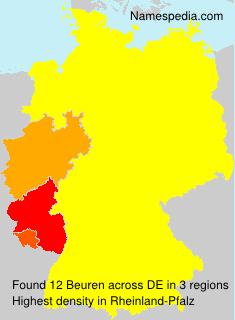 Surname Beuren in Germany