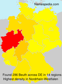 Familiennamen Beuth - Germany