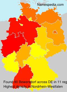 Familiennamen Bewersdorf - Germany