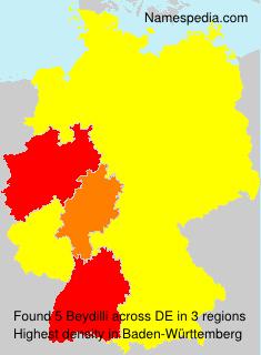 Surname Beydilli in Germany