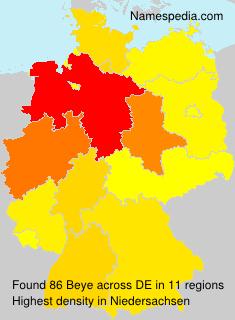 Familiennamen Beye - Germany