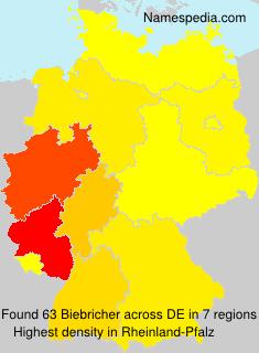 Familiennamen Biebricher - Germany