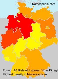 Familiennamen Bielefeldt - Germany