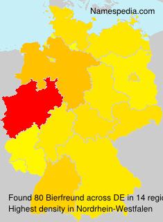 Surname Bierfreund in Germany