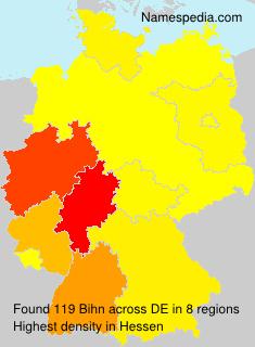 Surname Bihn in Germany