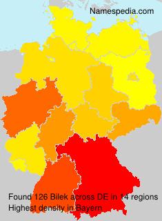 Familiennamen Bilek - Germany