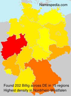 Surname Billig in Germany