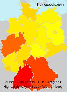 Familiennamen Bin - Germany