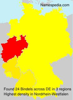 Familiennamen Bindels - Germany