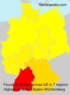 Familiennamen Binkert - Germany
