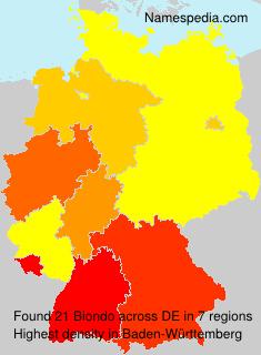 Surname Biondo in Germany