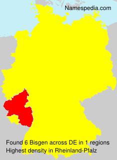Familiennamen Bisgen - Germany