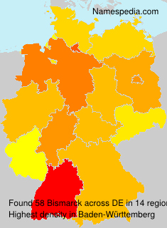 Surname Bismarck in Germany