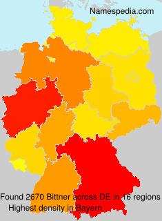 Surname Bittner in Germany